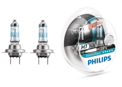 PHILIPS H7-12-55 +130% X-TREME VISION 3700К