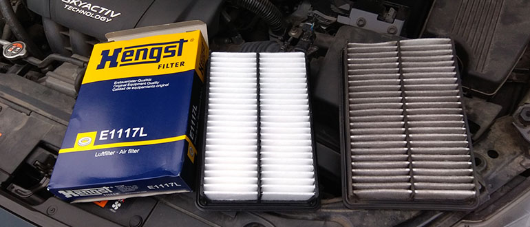салонный фильтр в Mazda 6