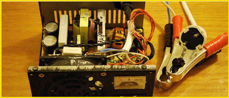 зарядник акб из блока питания компьютера