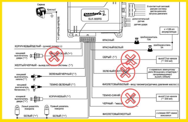 схема подключения для Пантера SLK-868RS