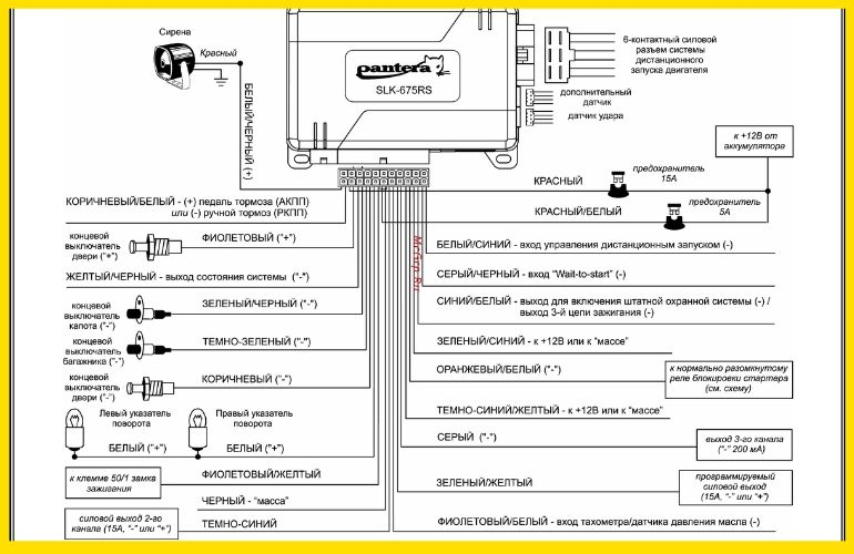 схема подключения SLK-775RS